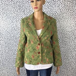 Cabi green tapestry Blazer size 8